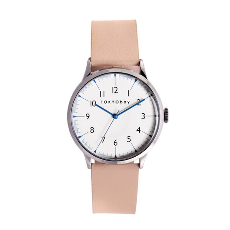 TOKYO BAY SCALA BEIGE LEATHER BAND UNISEX WATCH T339-BE BRAND NEW! - Material: Leather band - Color: Beige strap - Modern and clean styling - Over sized polished silver case - Full numbered dial desig