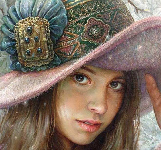 Maria Ilieva - Winter in old Lozenez 2013/ 50/50 oil on canvas, detail..
