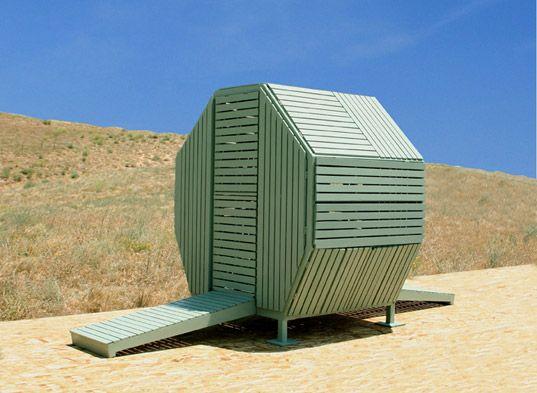 michael jantzen, m-velope, transformable architecture, sustainable architecture, transformable building, fsc-certified wood, green building, prefabricated building, portable office