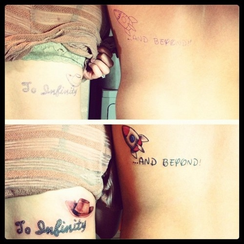 best friend or sister tattoos or married couples saying something different