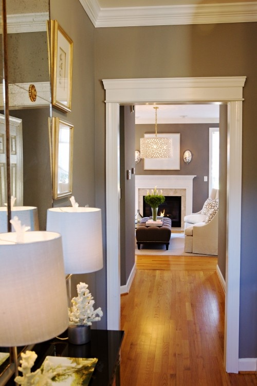 Sherwin Williams Anew Gray 7030 use it a lot love it...Mega Greige another option just a tad darker