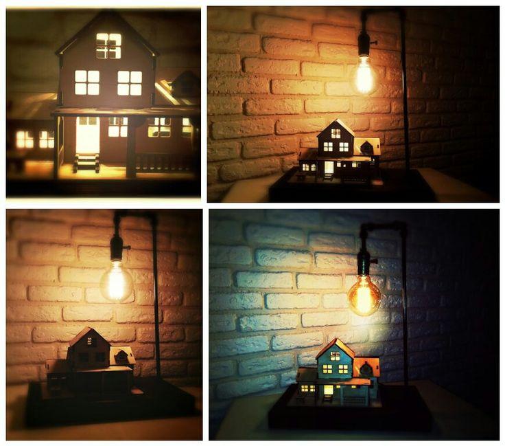 """""""Country House"""" – это оригинальная настольная лампа с популярным освещением LED Backlight и Edison Loft. Представлена от дизайнеров  в виде загородного дома и ночного фонаря.   В разработке данного изделия были предусмотренные все мировые инновации современного интерьерного декора. Без всякого сомнения Скандинавский стиль заинтересует каждого гостя в Вашем доме. Что придаст завораживающую атмосферу в виде домашнего теплого уюта.     Лампа """"Country House"""" будет для Вас самым креативным…"""