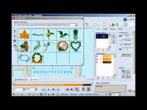 FBC 6d Premier Design Creator embroidery software overview - YouTube