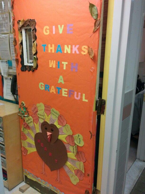 Thanksgiving Door Decoration Ideas For Preschool