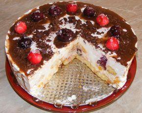 Tort de visine si piscoturi   Retete Culinare - Preparatedevis.ro