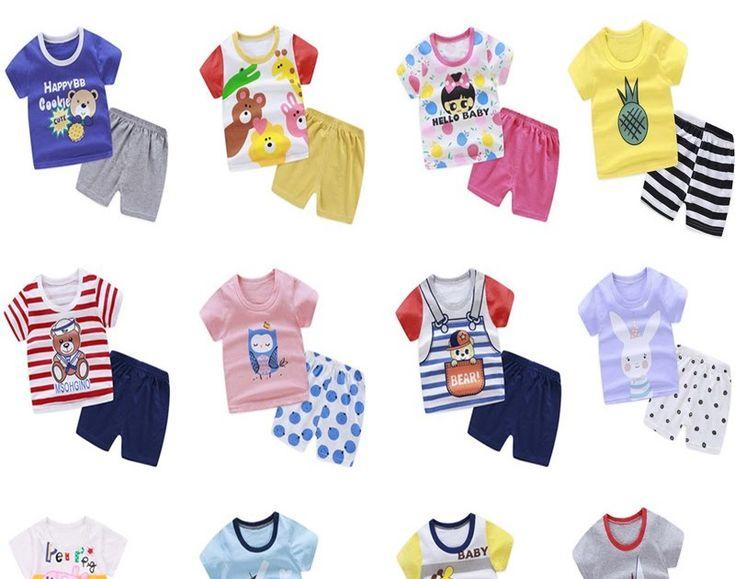 Terkeren 30 Gambar Kartun Baju Bayi Set Baju Atasan T Shirt Lengan Pendek Gambar Kartun Celana Untuk Bayi Laki Laki Dan Perempuan Gambar Kartun Kartun Gambar