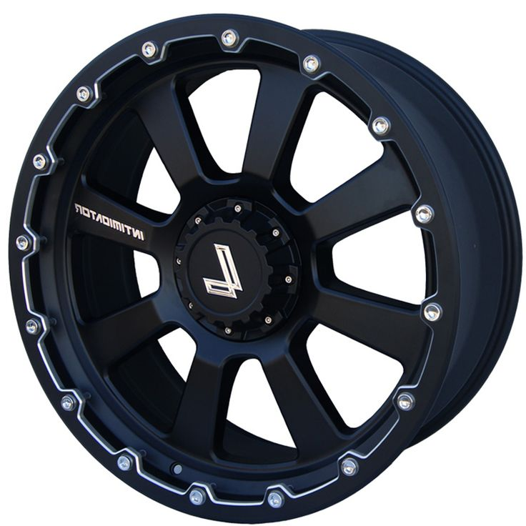 LENSO INTIMIDATOR 8 MATT BLACK CHAMPHER EDGE alloy wheels with stunning look for 4 studd wheels in MATT BLACK CHAMPHER EDGE finish with 22 inch rim size