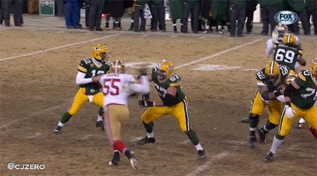 Aaron Rodgers Looks A Lot Like a Certain College Quarterback From Texas A&M on Key 4th Down Play | FatManWriting