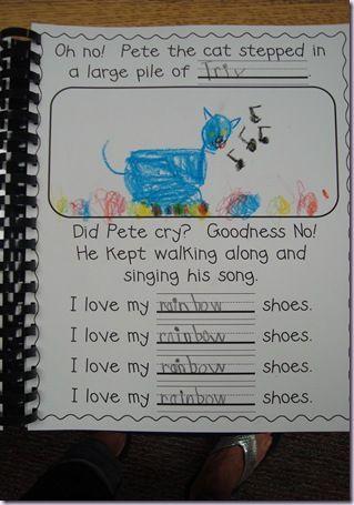 Pete the Cat writing idea: Cat Art, Grade Class, Cat Writing, Pete The Cats, Classbook, Writing Ideas, Kindergarten Class Book Ideas, Cat Class, Pete The Cat Kindergarten