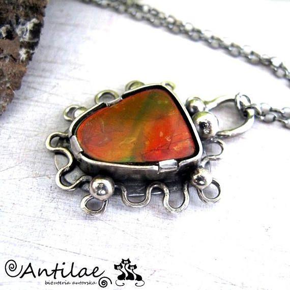 Koloretako  Ammolite silver necklace