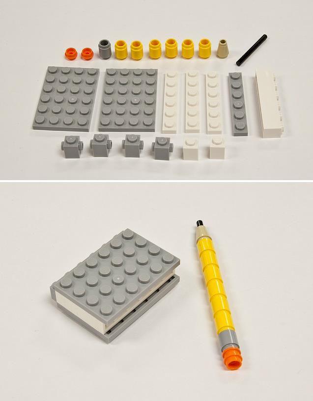 Make a Lego pencil/notebook.