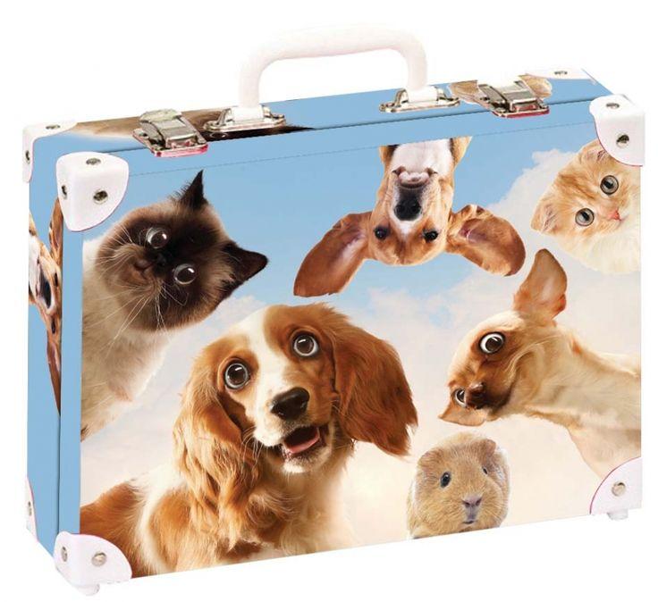 Školní kufřík velký - 35x25x11cm č. 21791 HK Velký  Vtipná zvířata