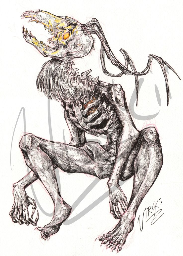 """For me, there are two kinds of Wendigo in Rick Yancey's The Curse of the Wendigo, the """"Old One"""" and the one turned. So I've decided to give my hand at trying to get my image onto paper. Just in time..."""