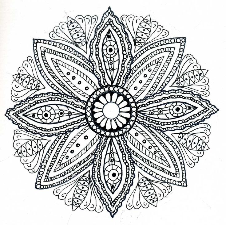flower mandala printable coloring page adult mandala coloring