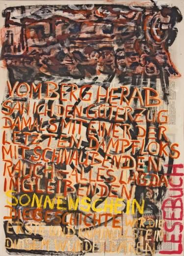"Saatchi Art Artist Ahmed Borai; Painting, ""Witwe Bolte - Newspaper Art Novel - #02"" #art"
