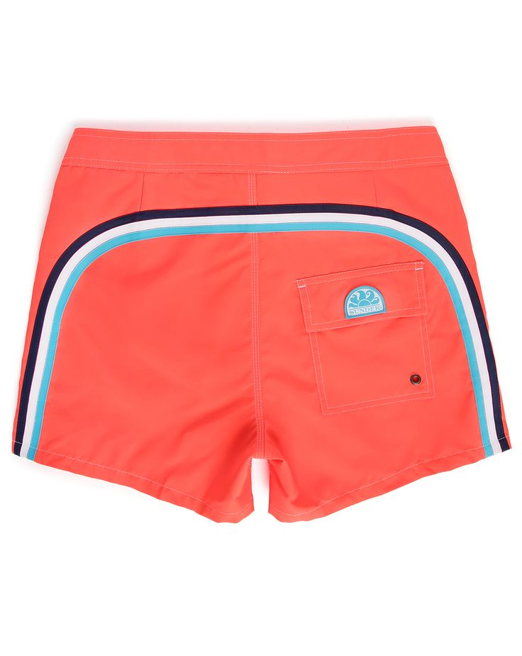 Maillot de Bain Fluo Orange Rayé SUNDEK homme, Shorts de bain Orange homme