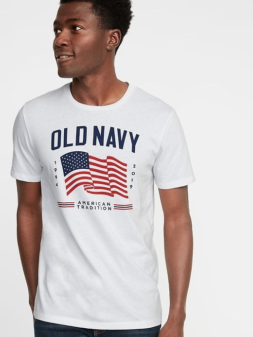 8c7c401f Old Navy Men's 2019 Flag Graphic Tee Bright White Size XXL in 2019 ...