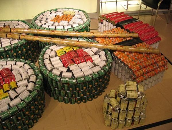 1000 images about canned good sculpture on pinterest
