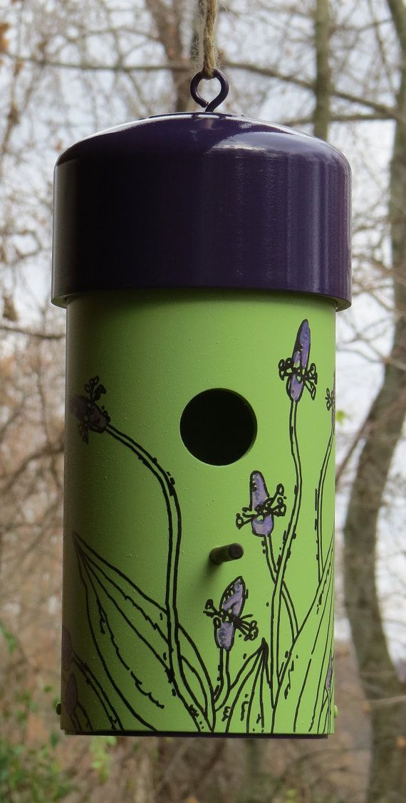 Hand Painted Birdhouse made with PVC each by McNellyFineArts, $40.00