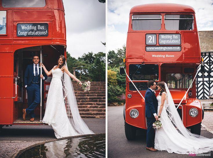 Wedding Planning | Hair Styles | Wedding Dress | Wedding Shoes | Bridal Style | Wedding Flowers | Bridal Bouquet | Creative Wedding Ideas | Floral Arrangements | Beautiful Bride | Wedding Season | Bridal Preparations | Wedding Fashion | Hair and Beauty | Bridal Trends | Wedding MUA | Real Weddings | Vintage bus | Red bus  - http://www.weddingdayphotos.co.uk/ - Hillbark Hotel, Frankby, Wirral, Merseyside - Wedding Day Photos