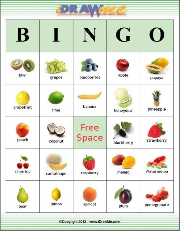 Bingo, Fruit and Bingo cards on Pinterest