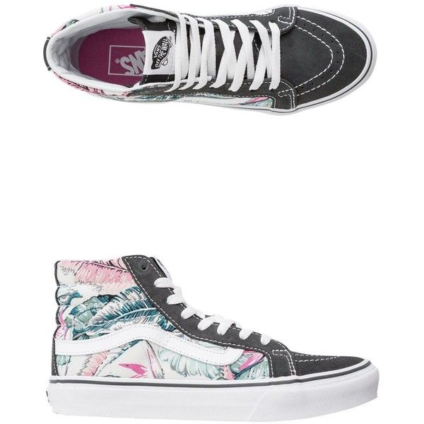 Vans Tropical Authentic Lo Pro Shoe ($55) ❤ liked on Polyvore featuring shoes, sneakers, low top, floral print shoes, vans trainers, floral print sneakers and vans sneakers