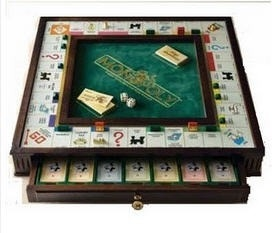 Monopoly Premier Edition Wooden Board Game -- Collector's Edition