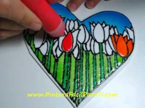 corazon para pintar pintura facil para tiwmv youtube