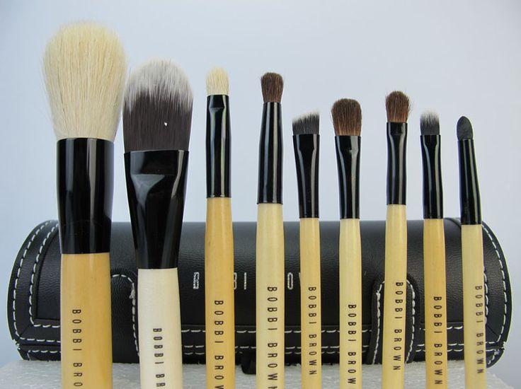 bobbi brown 9pcs brushes set with black makeup case : cheap mac cosmetics wholesale - $19.58