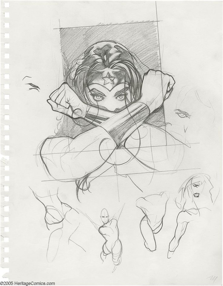 Adam Hughes - Wonder Woman #152 Cover Preliminary Drawing | Lot #6265 | Heritage Auctions
