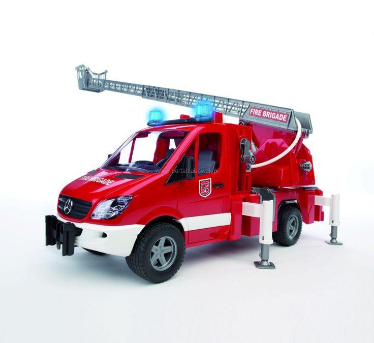Bruder 02532 Mercedes Benz Sprinter wóz strażacki z sygnalizacją PortalZabawek
