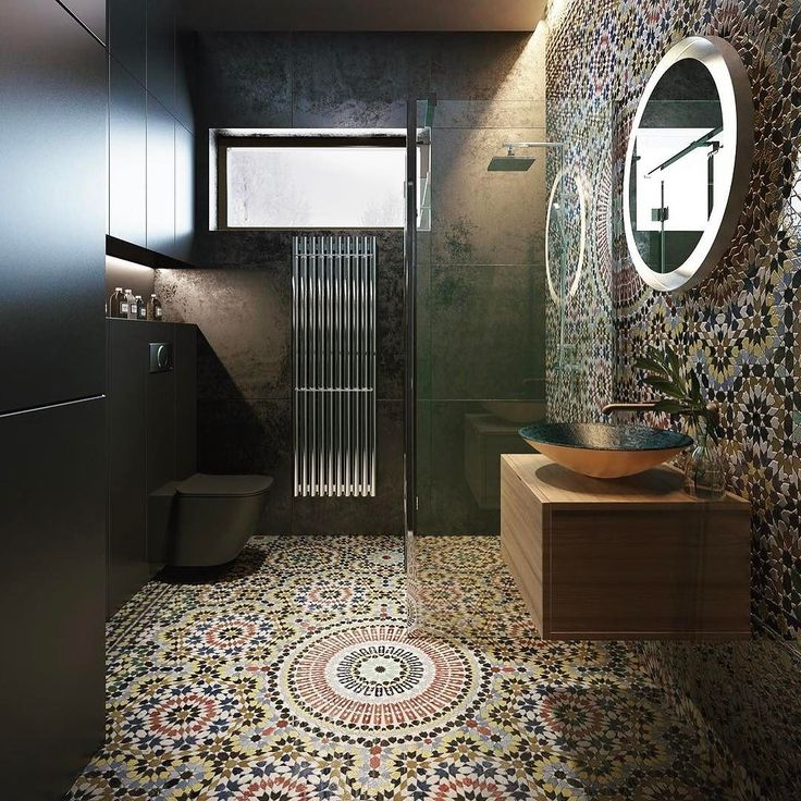 Complicated girih tile mosaic brightens the floor