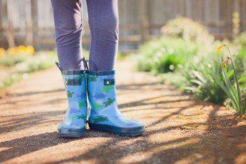 stivali da pioggia in gomma 100% con Squali e tartarughe bambino