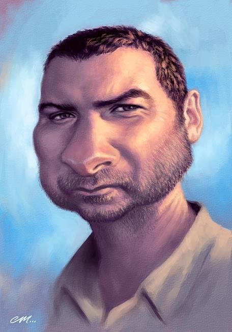 Stock caricatures of famous film Liev Schreiber