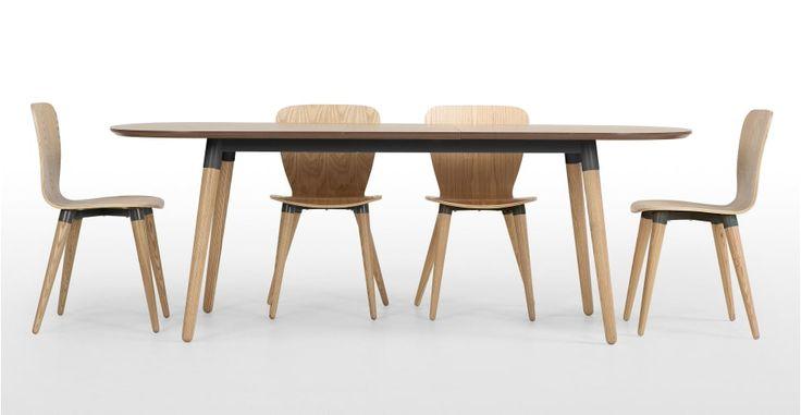 Edelweiss, table à rallonges, frêne et gris | made.com