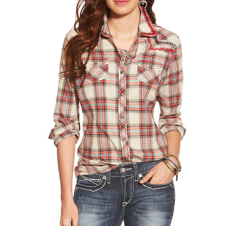 Ariat Women's Karina Plaid Long Sleeve Western Shirt - 10018203
