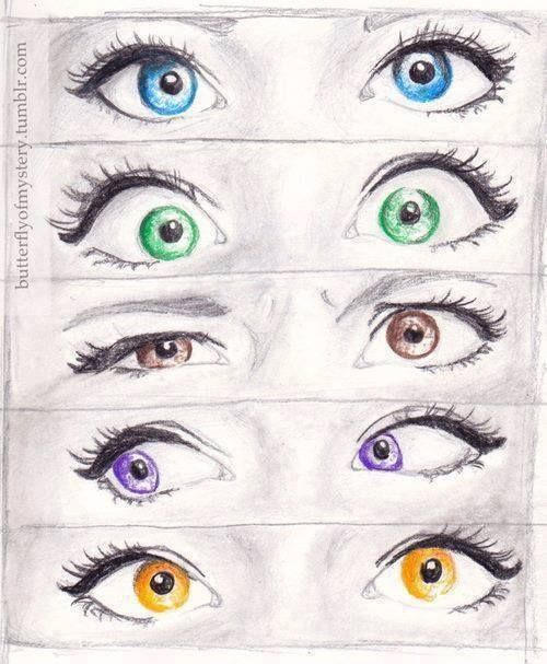 Cute drawings of eyes