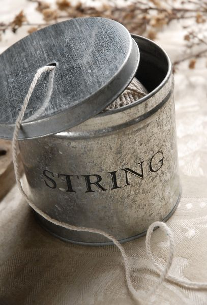 "5"" Tin String Pot w/ string $9"