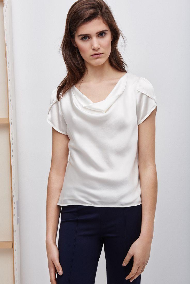 Blusa de seda RedCom | Adolfo Dominguez shop online