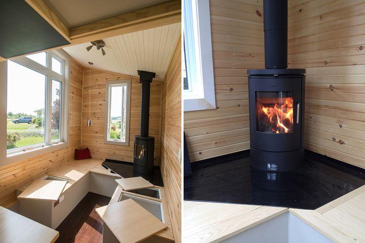 Fireplace - Harmony House by Full Moon Tiny Shelters