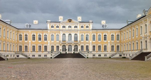 Rundale Palace is a magnificent remnant of the Russian Empire that has been built by the architect who built much of St Petersburg in Russia - Photo by Peeter Vanker, Group Escort
