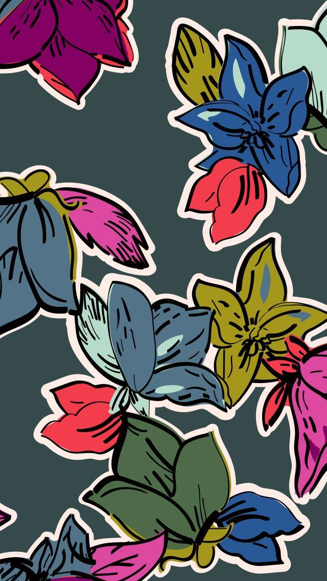 Vera Bradley | Falling Flowers | Mobile Wallpaper