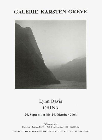 Lynn Davis - China, China exhibition poster, Galerie Karsten Greve, Cologne 2003, 84 × 59,5 cm / 33 × 23 3/8 in, € 20,-