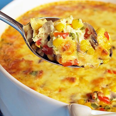 Sweet & Spicy Corn Pudding  Adapted from The Winemaker Cooks  creamy,sweet and spicy <3