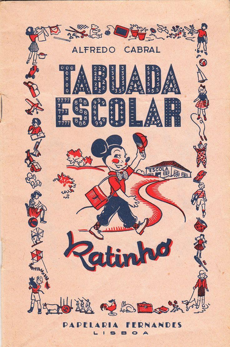 vintage: Tabuada Escolar - Ratinho