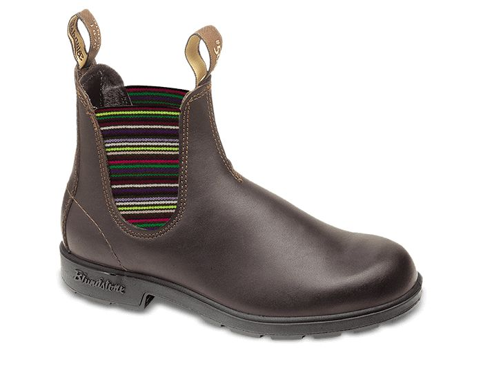 Stout Brown Premium Leather V Cut Boots - Blundstone USA