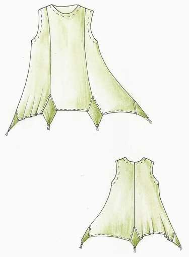 Add a handerkerchief hem to your tunic.  Different looks could be achieved with blending or contrast inserts.