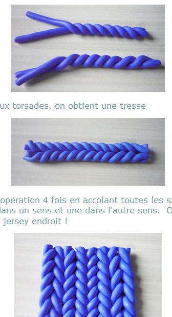 imitation tricot.
