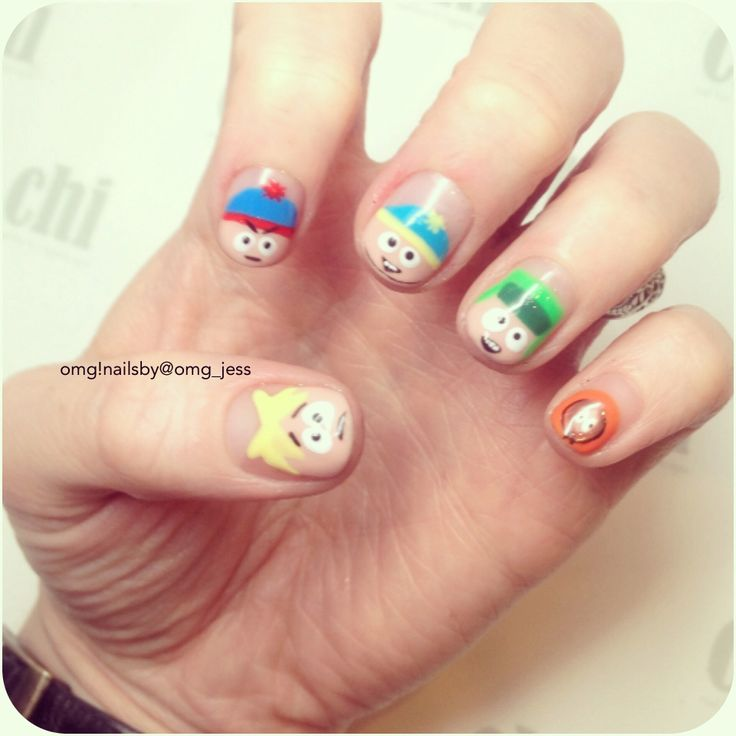 South Park Nail Art Design
