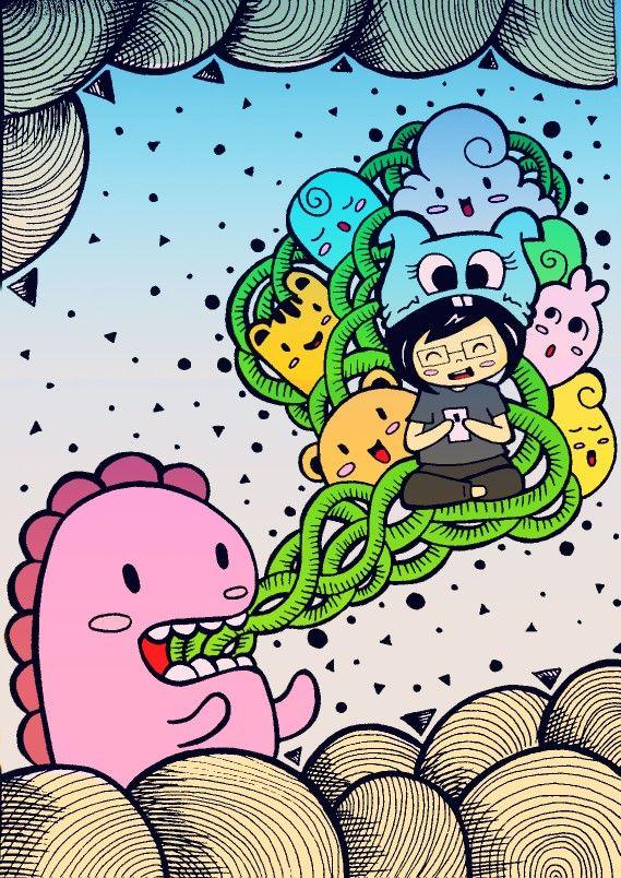 Doodle art illustration